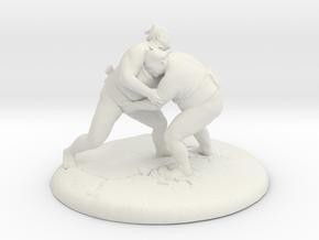 Sumo Oomph - Table Top Sculpture in White Natural Versatile Plastic