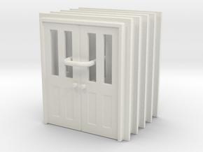 Door Type 7 - 760D X 2000 X 5 in White Natural Versatile Plastic: 1:87