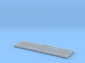 O Scale Pneumatic Hose Outets and Storage Tubes in Frosted Ultra Detail