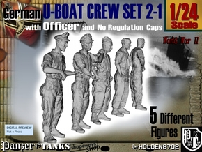 1-24 German U-Boot Set 2-1 in White Strong & Flexible