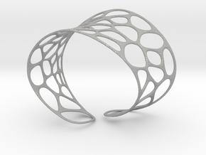 Voronoi Bracelet in Aluminum