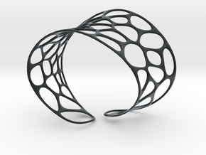 Voronoi Bracelet in Black Hi-Def Acrylate