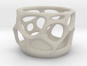 DPS Voronoi Pencilcup 001 in Natural Sandstone