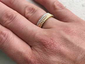 Ingranaggi Ring - XS, S, M, L, XL in Polished Brass: Medium