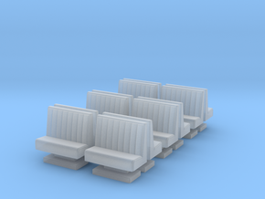 50's soda fountain bar sofa 01. HO Scale (1:87) in Smooth Fine Detail Plastic
