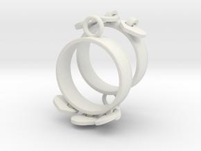 Heart Charm Earrings in White Natural Versatile Plastic