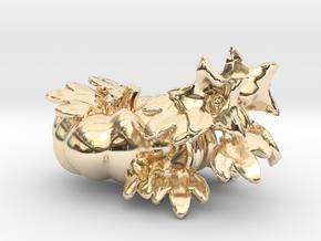 Fairytale Pumpkin Vine Studs in 14k Gold Plated Brass