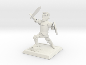 Cartoon fantasy knight in White Strong & Flexible