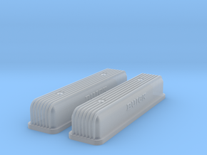 1/32 Buick Script Nailhead Valve Covers in Smoothest Fine Detail Plastic
