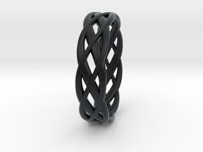 ring Double Braid in Black Hi-Def Acrylate: 8 / 56.75