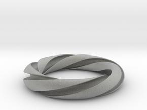 Groovy 3-5 Torus Knot in Metallic Plastic