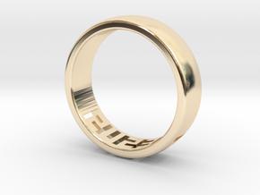 Jesus Ring in 14K Gold: 1.5 / 40.5