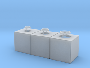 400 Gallon Ship Tank Set of 3 in Smooth Fine Detail Plastic: 1:48