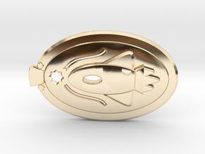 Rocketship Redux in 14k Gold Plated Brass