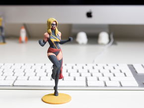 Miss Marvel in Full Color Sandstone