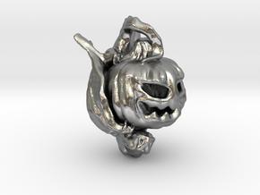 Pumpkin Gargoyle Pendant in Natural Silver