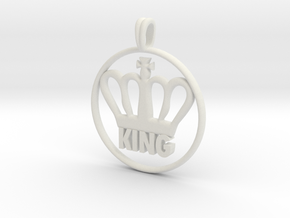 KING Crown Symbol Jewelry necklace in White Natural Versatile Plastic