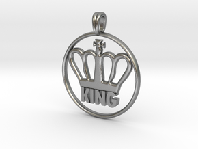 KING Crown Symbol Jewelry necklace in Natural Silver