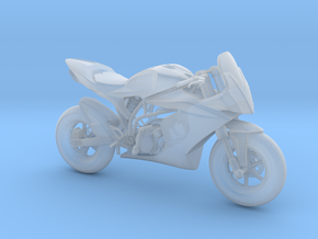 Motorbike in Smooth Fine Detail Plastic