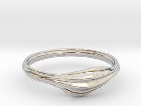 Wave in Rhodium Plated Brass