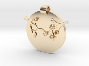 Blossom Pendant  in 14k Gold Plated Brass