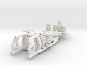 Immense Miniatures Narrow adjustable chassis FC-13 in White Natural Versatile Plastic