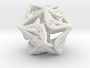 Curlicue 20-Sided Dice in White Strong & Flexible