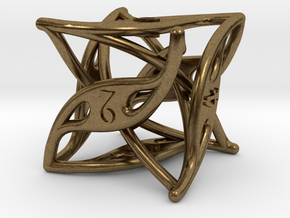 Curlicue 6-Sided Dice in Natural Bronze