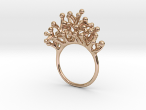 Ring Botryoides in Polished Brass: 6 / 51.5