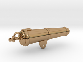 1:17 scale 32Lb Carronade -Barrel in Polished Brass
