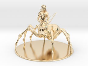 Drider Miniature in 14k Gold Plated Brass: 1:60.96
