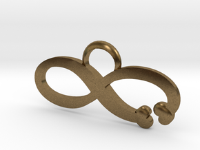 Love is Infinite in Natural Bronze: Large