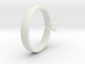 Proto Ring in White Natural Versatile Plastic