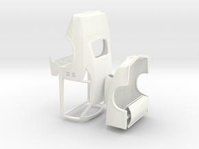 1/24 68 Firebird Pro Mod W Scoop (Detached Body) in White Processed Versatile Plastic