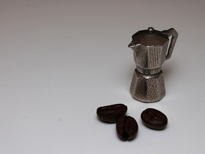 Moka pot token in Stainless Steel