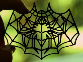 Spider-Bat Cookie Cutter (3 layers, 10 mm) in White Natural Versatile Plastic