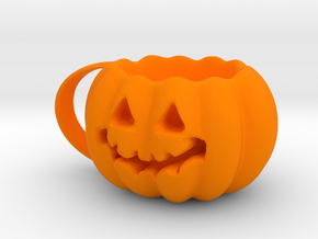 Finished Pumpkin Mug in Orange Strong & Flexible Polished