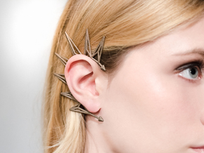 Earcuff in Polished Bronzed Silver Steel