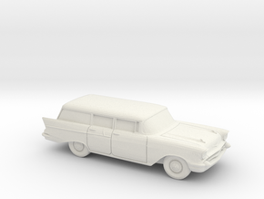 1/87 1957 Chevrolet One Fifty Station Wagon in White Natural Versatile Plastic