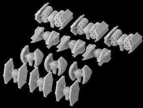(Armada) Imperial Fighters Set II in Frosted Ultra Detail