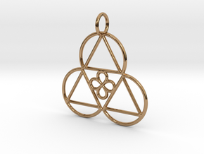 Reality Shift Pendant in Polished Brass