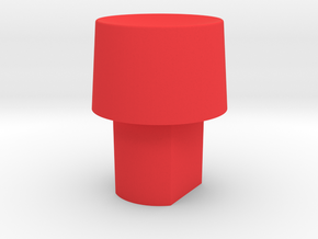 Cougar button S2 in Red Processed Versatile Plastic