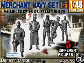 1-48 Merchant Navy Crew Set 1-5 in Frosted Ultra Detail