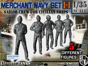 1-35 Merchant Navy Crew Set 1-1 in Smooth Fine Detail Plastic