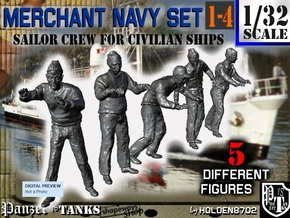 1-32 Merchant Navy Crew Set 1-4 in Frosted Ultra Detail