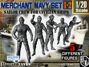 1-20 Merchant Navy Crew Set 1-2 in White Natural Versatile Plastic