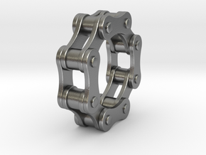 Violetta L. - Bicycle Chain Ring in Natural Silver: 6 / 51.5
