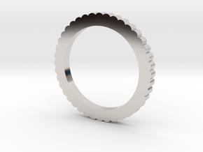 Ingranaggi Ring - XS, S, M, L, XL in Rhodium Plated Brass: Medium
