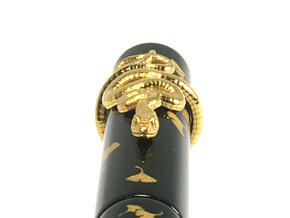 Snake Roll Stopper M 14 mm in 18k Gold Plated Brass