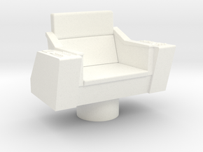 Bridge - Captain's Chair 06 in White Processed Versatile Plastic